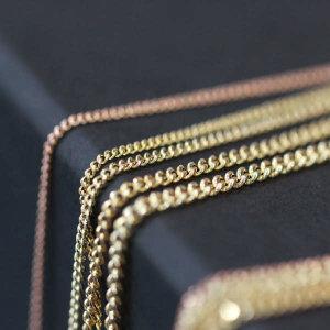 (현대Hmall) 프리스카제이  14K 커브 목걸이 체인 3푼