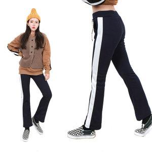 (GN)기모옆배색부츠컷 트레이닝팬츠 츄리닝 겨울 운동복 체육복/ H스타일