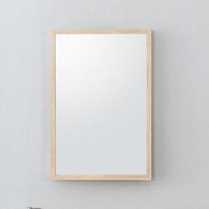 중형 원목 사각 화장대거울 벽걸이 욕실 현관 거울