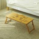 대형 대나무 노트북 테이블 E 좌식 침대 다용도 쿨러