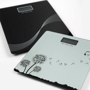 전자 디지털 칼라 체중계 저울 온도표시 /블랙라이트
