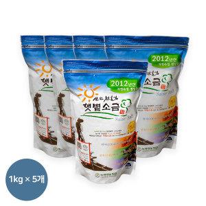 12년산 신안천일염 1kg 5개(지퍼팩) 숙성/선별저염소금