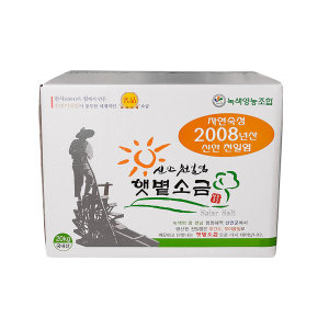 08년산 신안천일염 20kg(박스) 간수 쏙 빠진 굵은소금