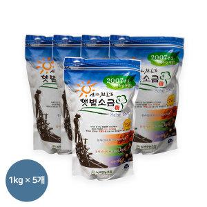 07년산 신안천일염 1kg 5개(지퍼팩) 간수뺀 굵은소금
