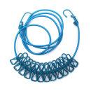 캠핑 빨랫줄 빨래줄 다용도 건조대 로프 집게형 블루