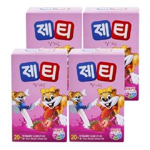 제티 딸기 80T (20Tx4개)