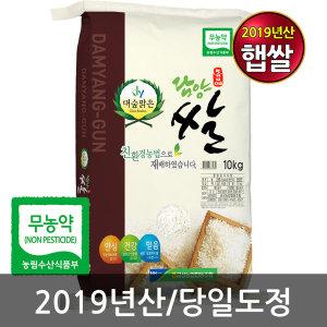 담양 대숲 무농약쌀 10kg /19년햅쌀 당일도정 신동진쌀