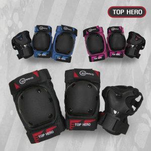 TOPHERO  탑히어로 고급형 아동용 보호대 (손목+팔꿈치+무릎)