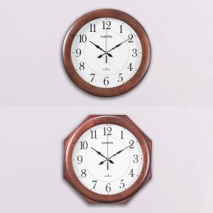 카파시계  (당일무료발송/불량맞교환AS) 카파 W640 무소음 원목 인테리어벽시계 국내산
