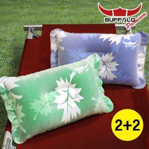 버팔로 프리미엄 에어 베개 캠핑 베개 수면 용품 2+2 색상선택가능