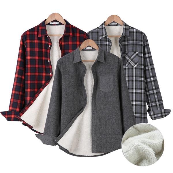 A양털셔츠/기모남방/겨울남방/남자겨울셔츠/체크남방