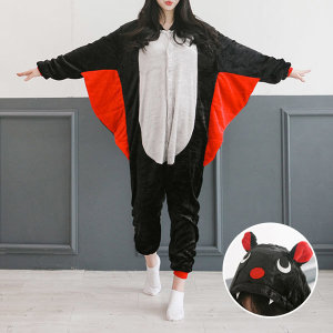 박쥐 동물잠옷 코스프레캐릭터 기모커플 수면 극세사