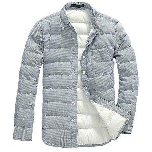 세련된 남자 패딩 셔츠 점퍼 슬림핏 자켓