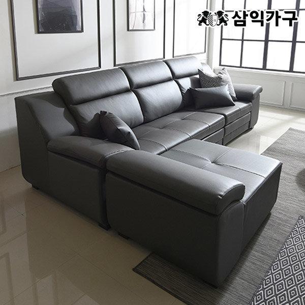 버나드 거위털 천연소가죽 3인/4인 소파/쇼파