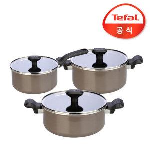 테팔 쏘옵티말 냄비3종세트(편수16+양수20+전골24)