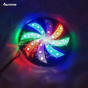 퍼시 오토바이 85mm 바람개비 RGB LED 보조브레이크등
