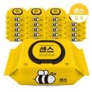 센스 물티슈 꿀벌 캡형 100매 10팩+10팩 (총 20팩)