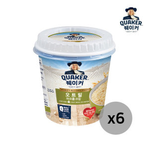 퀘이커 오트밀 머쉬룸크림(컵) 30g X 6개