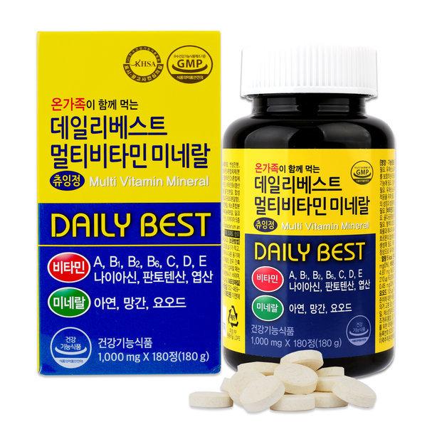 멀티비타민 미네랄 180정_6개월분 / 단품/ 유산균혼합