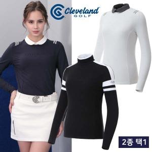 (현대Hmall) 클리브랜드골프  FW신상추천 여성 긴팔티셔츠 균일가 2종 택1/골프웨어_CG247430
