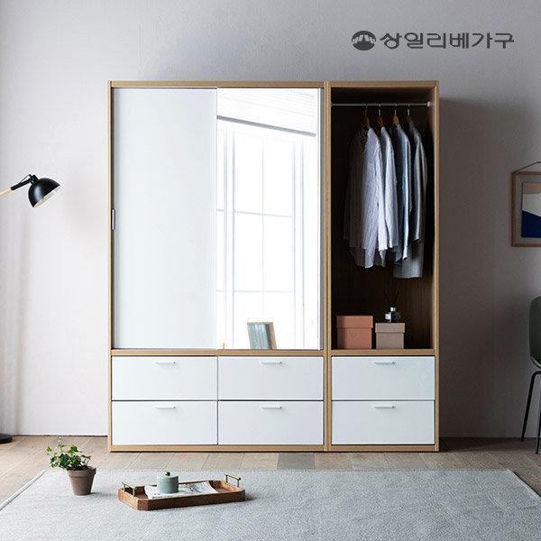 빅 풀 슬라이딩 옷장 행거/서랍형 (양방향 댐핑도어)