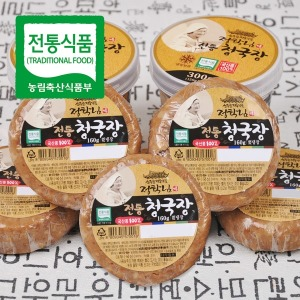 (전통식품인증)정학님의 국산콩 수제 청국장 160g 5개