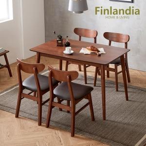 핀란디아 너츠 4인식탁세트(의자4)