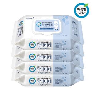 깨끗한나라 닥터비데 46매 4팩 화장실용물티슈