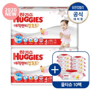 2020 매직팬티 컴포트 기저귀 4단계 여아 66매2팩 SD