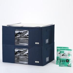 112L 이불정리함+압축팩SET 2P /리빙박스 수납함