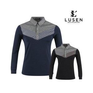 루센 프리미엄 스윙 골프 카라셔츠 BLU9A407
