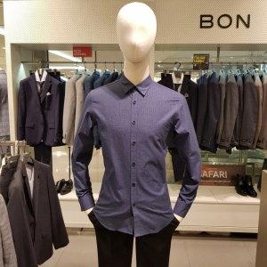 멜란지 블루 컬러 셔츠 BN7WBA890BL