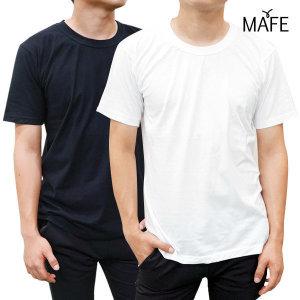 메이프  반팔 면티 베이직 라운드 면 티셔츠 (화이트/그레이/블랙/네이비)