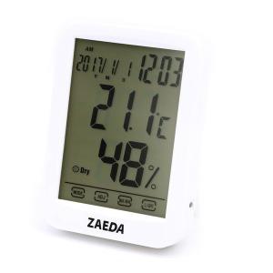재다 디지털 온습도계 ZAEDA-201 날짜 시간 알람 터치