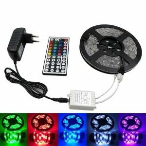 5M RGB 방수 LED 세트 EU 플러그