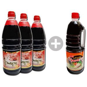 홍게맛간장 레드1.8Lx3+장아찌간장1.8L 맛난 간편밥상