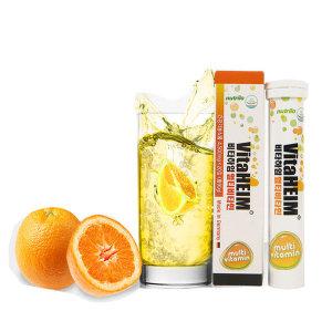 비타하임 발포Multi 멀티비타민C 20정 6개 오렌지맛/독일수입/물에녹는
