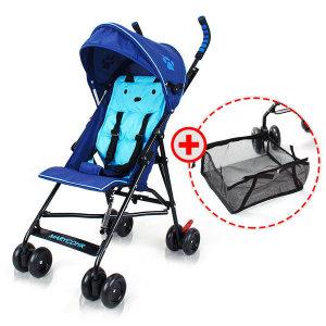 에코 초경량 휴대용유모차 기내반입 네이비블루+사은품