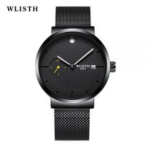 WLISHT 남성용 비즈니스 패션 쿼츠 손목시계 S920