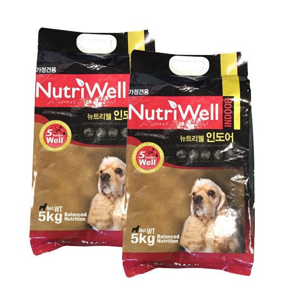 뉴트리웰 인도어 5kg x 2개 애견사료 강아지사료
