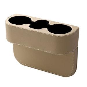 가죽 차량용 컵홀더 베이지 자동차 악세사리 실내용품
