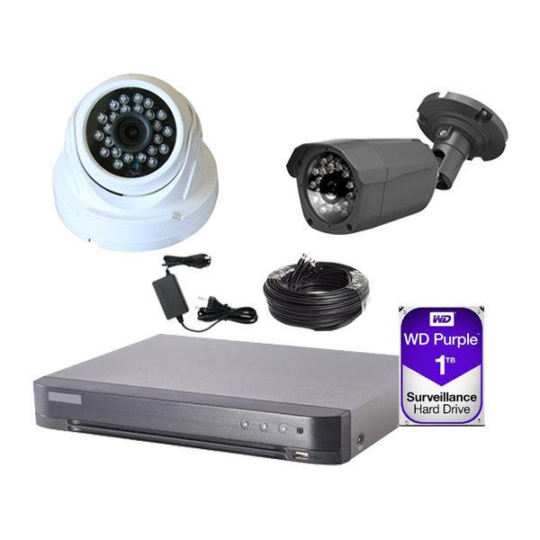 HD-TVI 500만화소 실내외 감시 카메라 CCTV 패키지