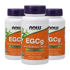 3개 나우푸드 EGCg 녹차 추출물 400 mg 90캡슐 카테킨