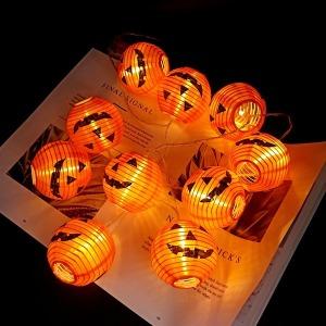 LED 호박 가랜드 조립형 할로윈 파티 장식 소품 램프