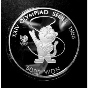 1988년 서울 올림픽 대회 기념주화 호돌이 은화(unc)