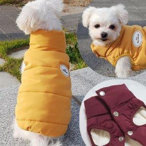 시크 조끼패딩 강아지패딩 강아지겨울옷 애견산책