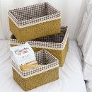 커버 사각 라탄 바구니 황색 L (해초바구니) 커버