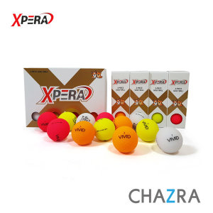 XPERA 엑스페라 3피스 무광 고반발 컬러 골프공 12구