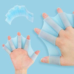 블루 L 사이즈 개구리 물갈퀴 오리손 물놀이용품