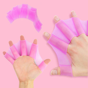 핑크 S 사이즈 개구리 물갈퀴 오리손 물놀이용품